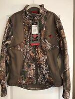 New 10XYukon Gear Mens Windproof Fleece Jacket Mossy Oak Medium Full  Zip Hoodie