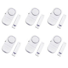 6 Pack Wireless Door AND Window Entry Alarm Battery Home System Security Switch