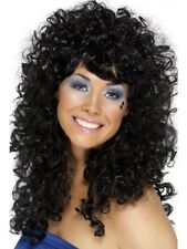 1980's Black Boogie Babe Wig Adult Womens Smiffys Fancy Dress Costume