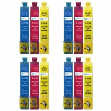 12 C/M/Y Ink Cartridges for Epson WorkForce WF-3620DWF & WF-7610DWF