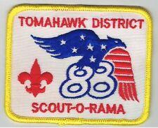 Vintage Old 1988 Patch Boy Scout O Rama BSA Tomahawk District Patriotic Eagle 88