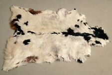 """New Goat hide Rug Hair on Area Rug Size 32""""x22"""" Animal Leather Goat Skin A-5419"""