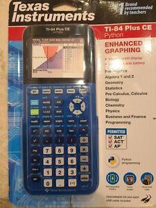 Texas Instruments TI-84 Plus CE Python Blue Enhanced Graphing Calculator NEW