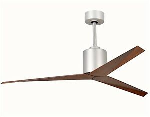 "MATTHEWS FAN CO. ELIZA 56"" FAN NICKEL / WALNUT BLADES W/ REMOTE EK-BN-WN"