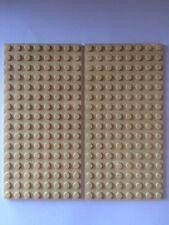"LEGO Sand Plates 8 x 16 Tan Base Plate 5""x2.5"" Floor Roof 8x16 City Lot Of 2"
