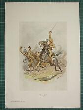 1900 BOER WAR ERA MILITARY PRINT ~ FIELD SOLIDERS CAVALRY  JOHN CHARLTON
