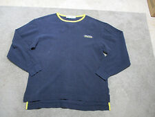 VINTAGE Nautica Competition Long Sleeve Shirt Adult Large Blue Yellow Spell Out