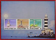 SINGAPORE 1982 LIGHTHOUSES S/S SC#399a MNH (light offset ON gum) SHIPS (E-B5)
