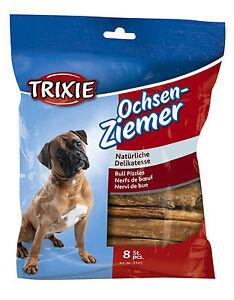 Bull Pizzles Bully Sticks 12cm Pack of 8 Dog Treats Chews 100g TX3145