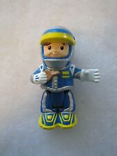 Fisher Price Little People RACE CAR DRIVER in Blue Poseable Bendable Racecar Boy