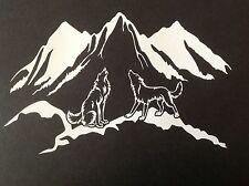HOWLING SIBERIAN HUSKY ALASKAN MALAMUTE WOLF STICKER DECAL SLED DOG HUSKIES SIBE