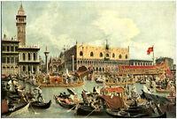 Publicité ancienne Venise les épousailles par Canaletto 1935 issue de magazine