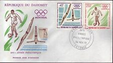 1003+ FDC ENVELOPPE 1er JOUR DAHOMEY  FOOT ANNEE PREOLYMPIQUE 1975