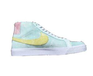 Nike SB Zoom Blazer Mid PRM Green Yellow White Shoes DA1839-300 Men's Sz 11 NEW