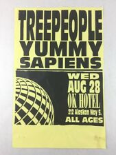 Treepeople - Yummy - Sapiens on August 28 at OK Hotel Seattle WA Concert Poster