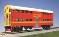 Kato 35-6024A HO Bi-Level 4 Window Cab/Coach Rock Island #CC116