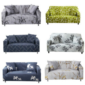 1/2/3/4 Seater Stretch Sofa Couch Cover Slipcover for Living Room Decor