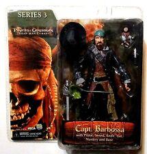 """Pirates of the Caribbean: Capt. Barbossa 7"""" Action Figure NECA Series 3 DMC"""