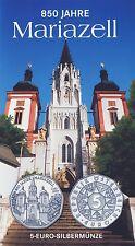 Österreich 5 Euro 2007 Silber 850 Jahre Mariazell hgh im Blister