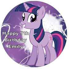 """My Little Pony Twilight Sparkle Personalised Cake Topper Edible Wafer Paper 7.5"""""""