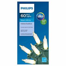 Philips LED 60 Count Mini Lights Warm White Indoor/Outdoor 19.6 FT