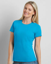 Hip Length Cotton Crew Neck Basic T-Shirts for Women