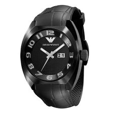 Emporio Armani AR5844 Black Leather Strap Mens Sports Designer Watch