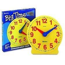 Learning Resources Big Time Clock 12 Hour Educational Toys Hobbies