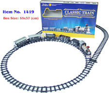 Kids Toy Trains Locomotives Train & Rail Battery Operated with Sound and Lights