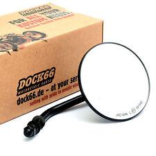 Custom Spiegel rund 4 Zoll (10 cm) schwarz mit E-Zulassung, für Harley-Davidson®