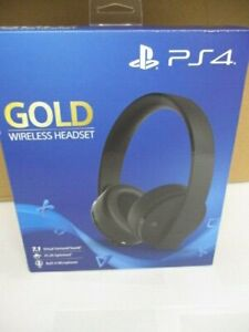 Sony PlayStation 4 Gold Wireless Headset PS4 New Open Box