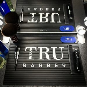 Barber Mat, Barber station mat,trubarber professional mat, BLACK/WHITE