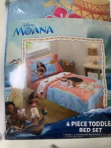 Disney Moana 4 piece toddler bed set