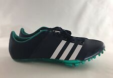 ADIDAS Adizero Green Navy Running Sprinter Track Cleats Shoes AF5647 Men's 11.5