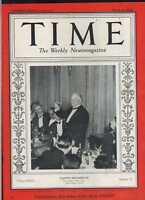 Time Magazine March 12 1934 Gaston Doumergue  excellent