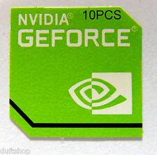 10 trozo original NVIDIA GeForce sticker 20mm x20 mm [910x10]