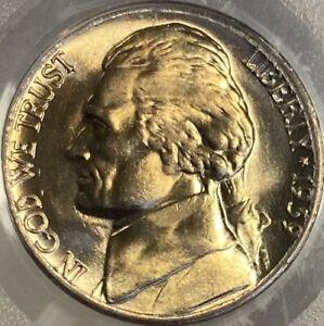 1939-D Reverse of 1938 5c Jefferson Nickel PCGS MS66 Lustrous Gem!