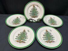"""Set of 5 ~ Spode """"CHRISTMAS TREE""""  England  ~ Salad Plates ~ 7 3/4"""""""
