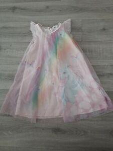 Kleid Tüllkleid H&M Einhorn 128