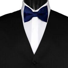 Cadeaux pour Hommes Pre-tied Réglable Homme plaine Solid Mariage Noeud Papillon Bleu Marine