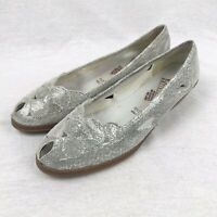 Rieker Antistress Silver Shiny Metallic Cut Out Slip On Shoes UK 8