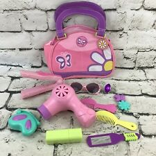 Girls Accessorie Hair Care Cosmetic Mixed Lot Of 12 Pretend Play Toys And Purse