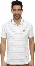 Lacoste Men's Sport Short Sleeve Ultra Dry Polo Shirt, white, size 3/S