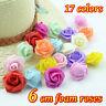 100 Pcs Large 6CM Artificial Flowers Foam Rose Heads Wedding Party Decor Bouque
