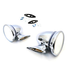 CHROME MIRROR PAIR ( 2pcs ) FOR MGC MGB GT V8 ROADSTER COMPATIBLE New