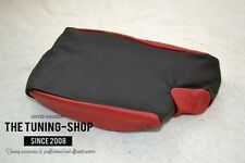 For Bmw 3 Series E46 99-05 Armrest Cover Black & Red Leather