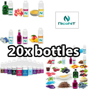 20x Nicohit E Liquid ALL Flavours Available 4 strengths 50vg/50pg 10ml E Juice