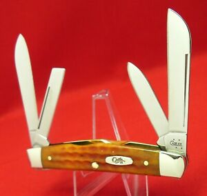 Case XX 64052 SS Antique Bone 2006 Medium Congress Knife, Never Used