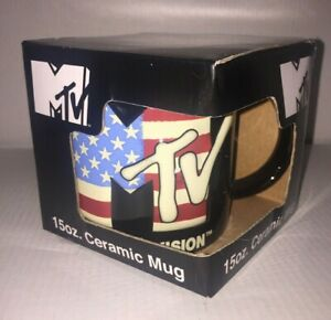 MTV Music Television Icup 15 Oz Ceramic Mug Coffee Cup NIB
