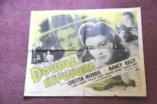 """ DOUBLE EXPOSURE "" 1944 ORIGINAL MOVIE MOVIE POSTER. CHESTER MORRIS AND NANCY"